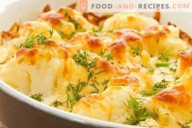 Карфиол, печен във фурна със сирене