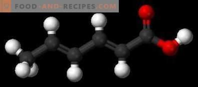 Сорбинова киселина E200 - вреда, приложение