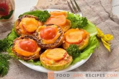 Скуош, запечен с домати и сирене