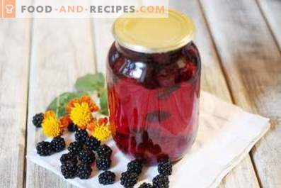 Blackberry Compote за зимата