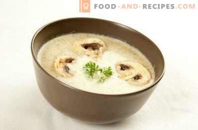 Кремообразна гъбена супа със стопено сирене