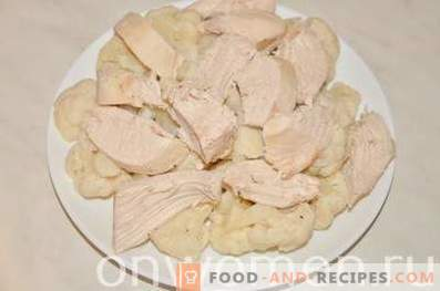 Карфиол с пиле в тесто