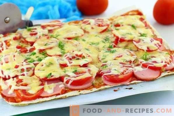 Пица лаваш във фурната