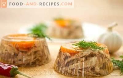 Аспик от свински език - украса на маса! Рецепти на различни отвори на свински език: с гъби, зеленчуци, яйца