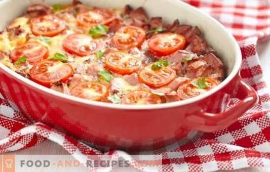 Запеканка с домати - ярко лято на масата ви. Какви зеленчуци и сосове се използват за гювечи с домати