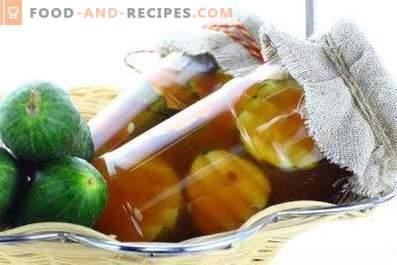 Краставици с чипски кетчуп за зимата