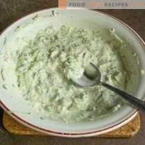 Скуош на скара с кремав зеленчуков сос