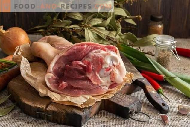 Салата от желе и месо - 2 ястия от 1 свинска опашка