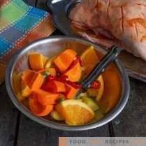 Сочна патица с портокали на френски